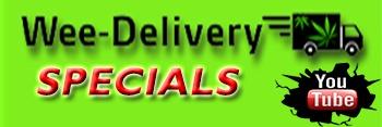 Wee-Delivery Medical Marijuana Banner Logo Specials