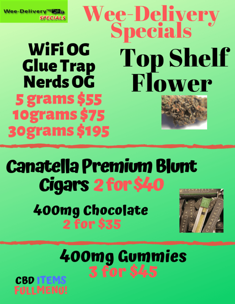 Wee-delivery.com Weekend Specials