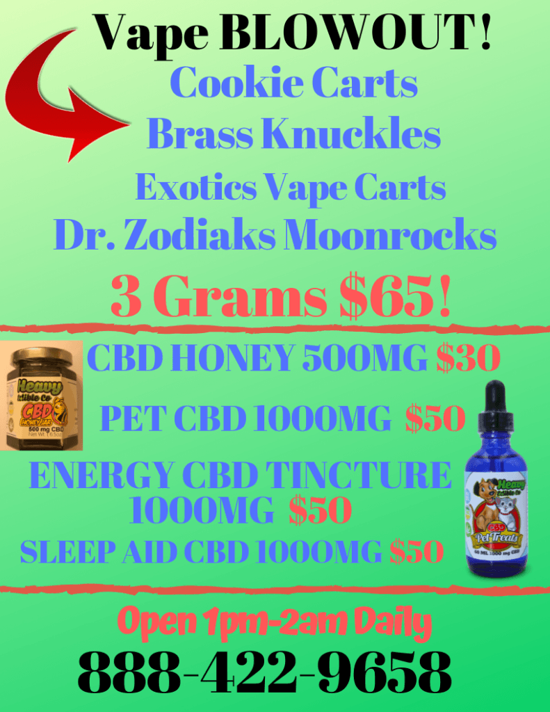 Wee-delivery Weekend Specials 8-09-2019